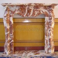 Stone Fireplace Red Marble Photo Gallery