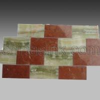 Quality green onyx and red alicante subway tile 11 Home > Products > stone mosaics > stone subway tile > green onyx and red alicante subway tile 11 for sale