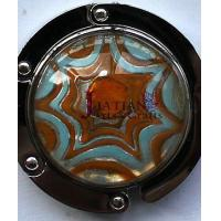 China red/turquoise silver foil Lampwork glass round bag holder on sale
