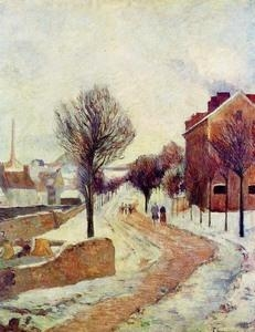 Buy Impressionist(3830) Suburb under Snow at wholesale prices