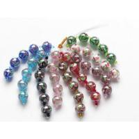 China Silver foil Murano Round Beads on sale