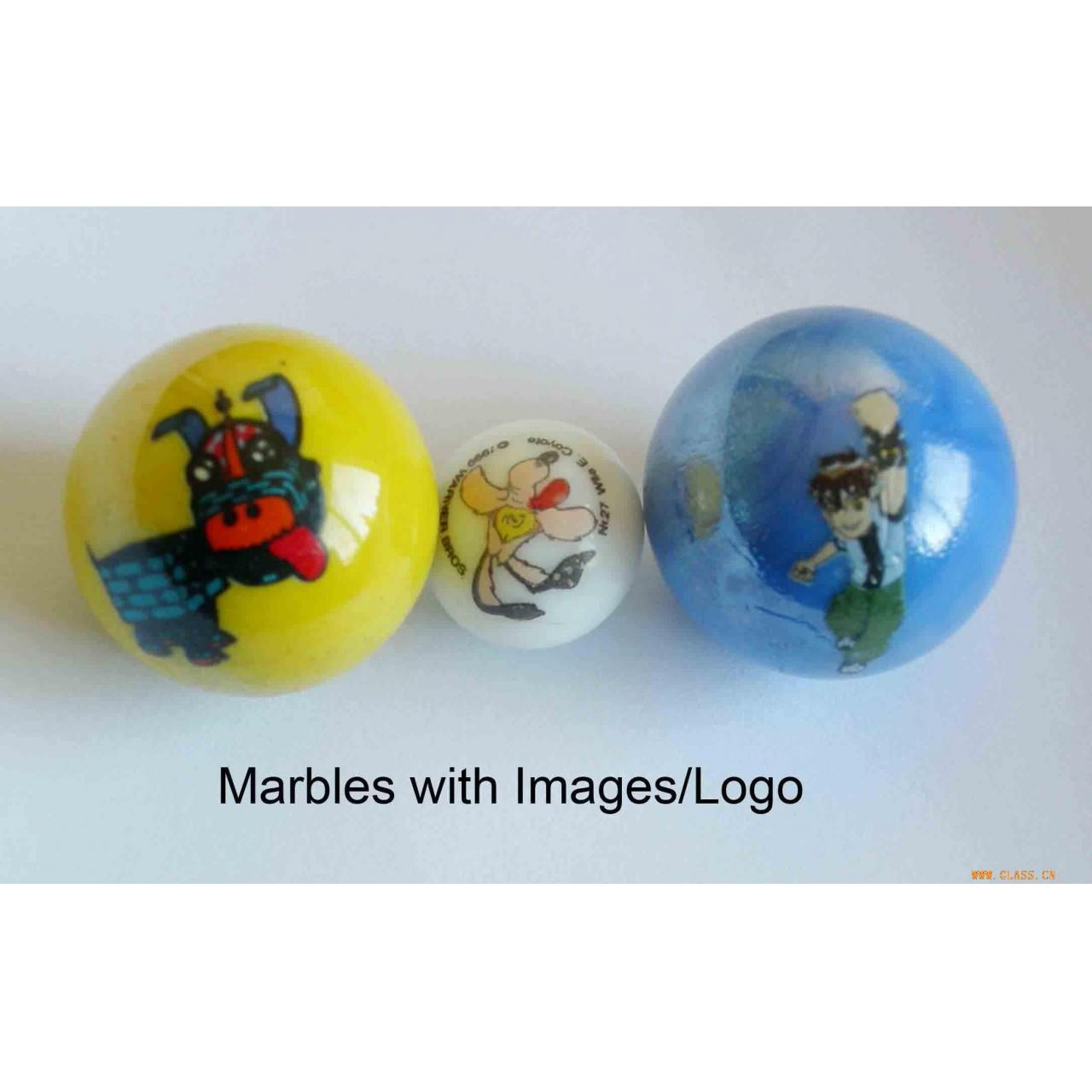 Quality Glasswork glass marble with printing for sale
