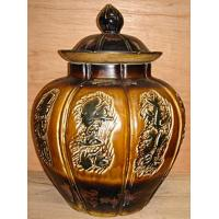 "Quality 18"" brown jar with chalacter for sale"