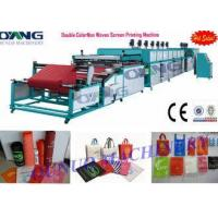 Automatic roll to roll Non Woven Screen Printing Machine drying - collecting
