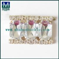 China Full crystal strass shoe buckle wedding shoe decoration buckle on sale