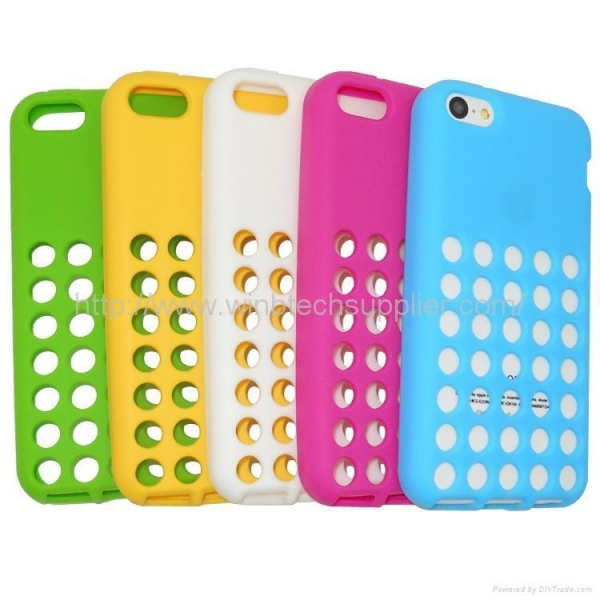 Iphone 5c Green With White Case tpu case for IPHONE 5C...