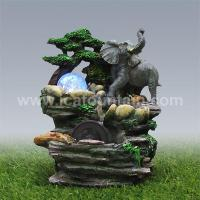 Quality Animal fountains Elephants Rolling Ball Fountain for sale