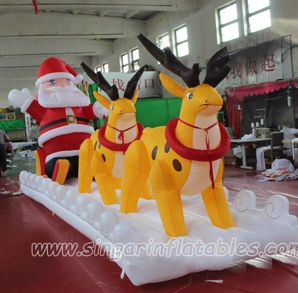 Christmas Decorations 6m Hot Selling Inflatable Santa