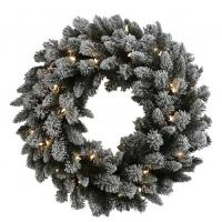 "Quality Flocked slight 30"" Wreath for sale"