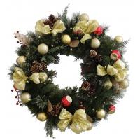"Quality Gold glitter 30""wreath for sale"