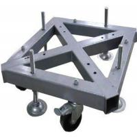 Quality Custom Welding Fabrication 290*290mm Spigot Square Truss Steel Base With Wheel for sale