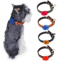 China Chiwava Lovely Flower Pet Leather Collar on sale