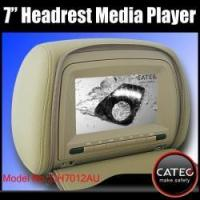 China Car headrest multimedia players with 7 inch monitors, car headrest MP3 MP4 MP5 players on sale