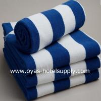 Buy cheap Blue and white striped towel from Wholesalers