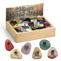 Quality Chinese Totem Stone, 20 assorted, 144pcs per display. for sale