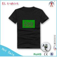 2015 Fashion electroluminescent flashing t shirt led t shirt in bestselling