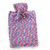 full color knit hot water bottle cover