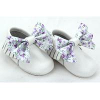 Buy cheap pure white plush shivering bow unique customized baby shoes BBLB0911 from wholesalers