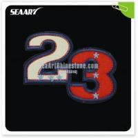 wholesale number design embroidery for Tshirts decoration