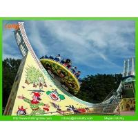 Amusement park flying UFO thrilling rides