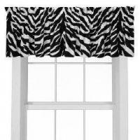 Black Zebra Window Valance