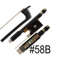 China Top Model A Silver Braided Carbon Fiber Violin Bow on sale