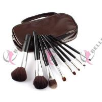 TB-8-06 Goat Hair 8pcs makeup brush set with case coffee