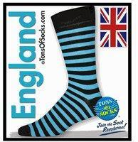 China Men's Turquoise & Black Stripe Socks on sale