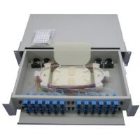 Quality Outdoor optic cable Rack Mount Fiber Optic Patch Panel White for sale