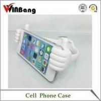 Quality New Cute Thumb Shape Silicone Mobile Phone Holder for Desk for sale