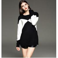 loose pullover knitted sweater for ladies