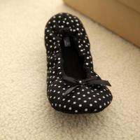 printed percale bowknot dance shoes(KL-D-088)