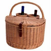 China MY3A-1132 Wicker Wine Basket for Picnic on sale