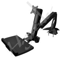 Quality WST10 Sit-Stand Spring Arm Desk Mount Computer Workstation Combo System for sale