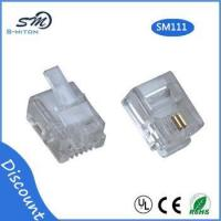 Quality RJ11 modular plug 6 pin 2 core telephone cable connector for sale