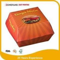 Quality paper cardboard Burger box for sale