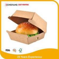 Quality Kraft paper burger packaging box for sale