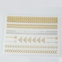 Quality Shiny Water Transfer Metallic Temporary Tattoos for sale