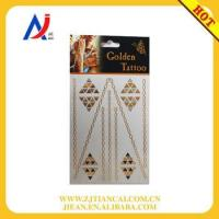 Quality necklace tattoo sticker and metallic gold foil sticker for sale