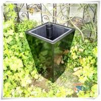 Buy cheap Ladder glossy fiberglass flower pot self watering system planter from wholesalers