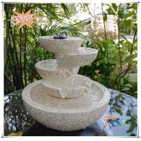 Buy cheap Imitate Marble LED Polyresin Indoor Glossy Tiered Pot Small Fountain from wholesalers