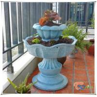 Buy cheap Unique Wholesale Two Tier Resin Garden Fountain Planter Pot from wholesalers