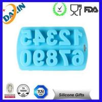 Quality novelty silicone number ice cube tray/ reusable chocolate mold for sale