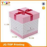 Quality Wholesale recycled paper box / Ribbon rigid cardboard gift box for sale