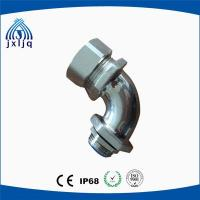 90 Degree Elbow Metal Flexible Conduit Fittings brass nickel plated material