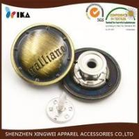 old fashion design metal jeans button plated