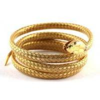 stainless steel simulation gold snake bangle