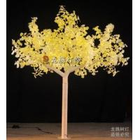 Quality 12ft Outdoor Artificial ginkgo leaves LED decorative lighted tree for sale