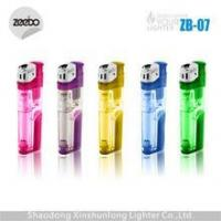 China torch lighter refillable gas lighter with LED lighter supplier China on sale