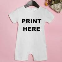 China 2016 hot sale customized cotton short sleeve baby romper suit, No minimum quantity required! on sale
